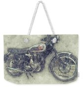 Bsa Gold Star 1 - 1938 - Motorcycle Poster - Automotive Art Weekender Tote Bag