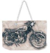 Bsa Gold Star - 1938 - Motorcycle Poster - Automotive Art Weekender Tote Bag