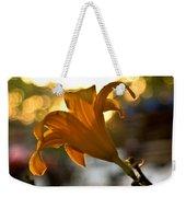 Bubble Blowing Flower Weekender Tote Bag