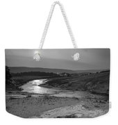 Bubbling Hot Spring In Yellowstone National Park Bw Weekender Tote Bag
