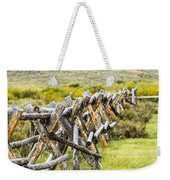 Buck And Rail Fence In The High Country Weekender Tote Bag