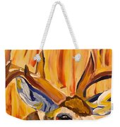 Buck In Fiery Sunset Weekender Tote Bag