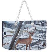Buck In The Snow Weekender Tote Bag