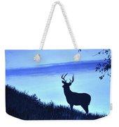 Buck Silhouette In Blue Weekender Tote Bag