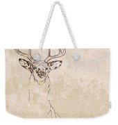 Buck Unfinished Art Weekender Tote Bag