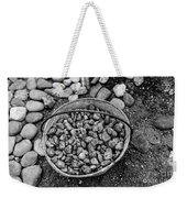 Bucket Of Rocks In Black And White Weekender Tote Bag