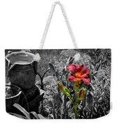 Buckets Of Water And A Splash Of Flower Weekender Tote Bag