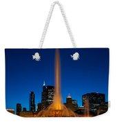 Buckingham Fountain Nightlight Chicago Weekender Tote Bag