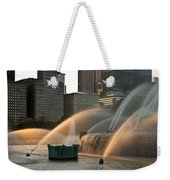 Buckingham Fountain Sidelight  Weekender Tote Bag
