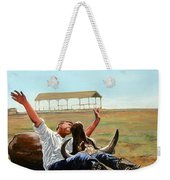 Bucky Gets The Bull Weekender Tote Bag by Tom Roderick