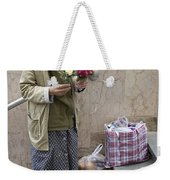 Budapest Flower Woman Weekender Tote Bag