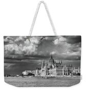 Budapest Parliament From The Chain Bridge Weekender Tote Bag