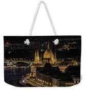 Budapest View At Night Weekender Tote Bag