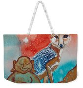 Buddha And The Divine Kit Fox No. 1373 Weekender Tote Bag