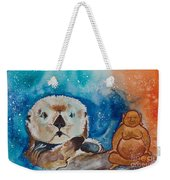 Buddha And The Divine Otter No. 1374 Weekender Tote Bag
