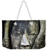 Buddha Head In Banyan Tree Weekender Tote Bag