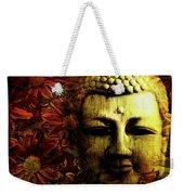 Buddha In Red Chrysanthemums Weekender Tote Bag