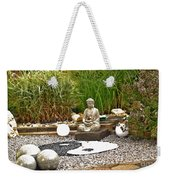 Buddha Looks At Yin And Yang Weekender Tote Bag