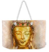 Buddha Peace Love And Light Weekender Tote Bag