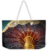 Buddhas Path To Enlightenment, Golden Umbrella Weekender Tote Bag