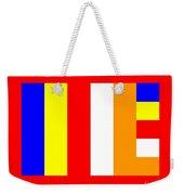 Buddhism Flag Weekender Tote Bag