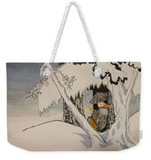 Buddhist Cleric Nichiren In Exile And Homage To Yoshitoshi Weekender Tote Bag