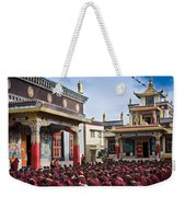 Buddhist Monastery In Full Attendance Weekender Tote Bag by Nila Newsom