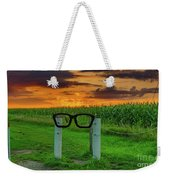 Buddy Holly Glasses Weekender Tote Bag