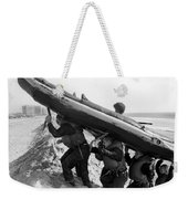 Buds Students Carry An Inflatable Boat Weekender Tote Bag