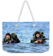 Buds Students Wade Ashore During An Weekender Tote Bag