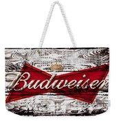 Budweiser Wood Art 5a Weekender Tote Bag
