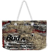 Budweiser Wood Art 5c Weekender Tote Bag