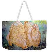Buff Orpington Hens In The Garden Weekender Tote Bag