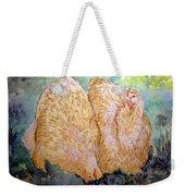 Buff Orpington Hens In The Garden Weekender Tote Bag