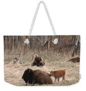 Buffalo And Calf Weekender Tote Bag