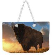 Buffalo At Dawn Weekender Tote Bag