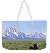 Buffalo At Rest Weekender Tote Bag