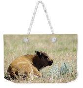 Buffalo Calf Weekender Tote Bag