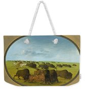 Buffalo Chase With Accidents Weekender Tote Bag