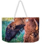 Buffalo Family Weekender Tote Bag