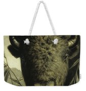 Buffalo Head Weekender Tote Bag