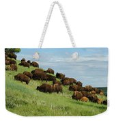 Buffalo Herd Weekender Tote Bag
