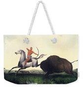 Buffalo Hunt, 1832 Weekender Tote Bag