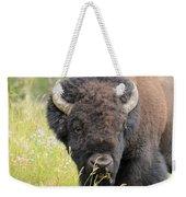Buffalo In Flowers Weekender Tote Bag