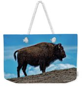 Buffalo In Profile Weekender Tote Bag