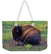 Buffalo In The Badlands Weekender Tote Bag