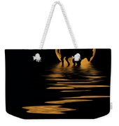 Buffalo In The Moonlight Weekender Tote Bag