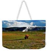 Buffalo In Yellowstone Weekender Tote Bag