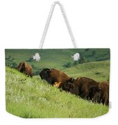 Buffalo On Hillside Weekender Tote Bag
