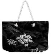 Bug On Flowers Black And White Weekender Tote Bag